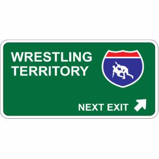 Wrestling Next Exit Photo Sculpture Decoration