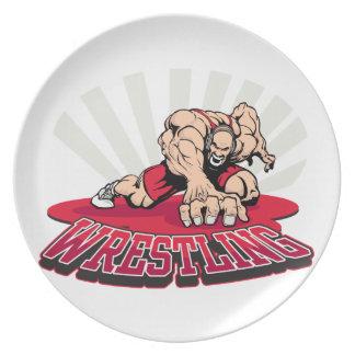 Wrestling! Dinner Plate