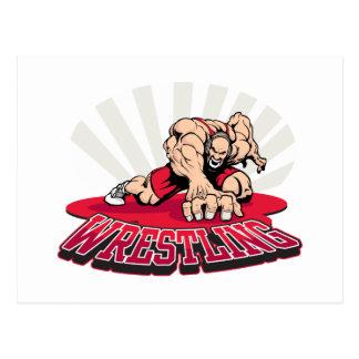 Wrestling! Postcard