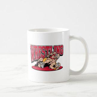 Wrestling Takedown Basic White Mug