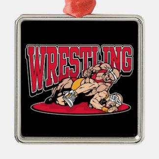 Wrestling Takedown Ornament