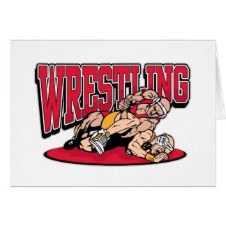 Wrestling Takedown Greeting Card