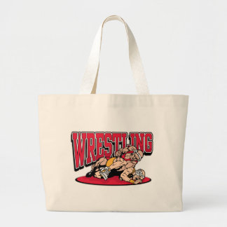 Wrestling Takedown Jumbo Tote Bag