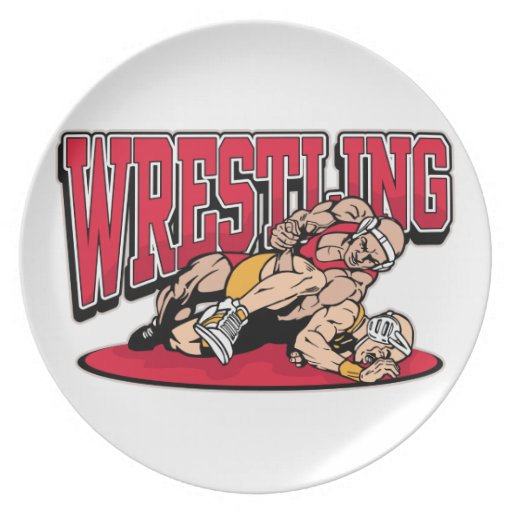 Wrestling Takedown Party Plate