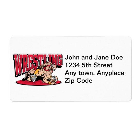 Wrestling Takedown Shipping Label