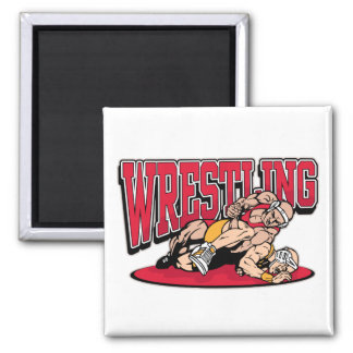 Wrestling Takedown Square Magnet