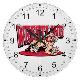 Wrestling Takedown Wall Clock