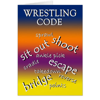 Wrestling Tournament Win Greeting Card