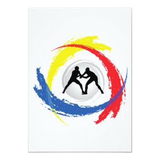 Wrestling Tricolor Emblem Card
