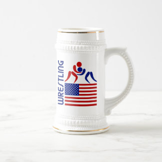 Wrestling United States Beer Stein