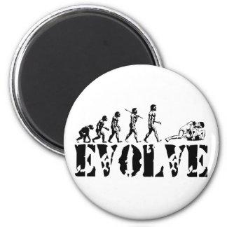 Wrestling Wrestler Grappling Sports Evolution Art 6 Cm Round Magnet
