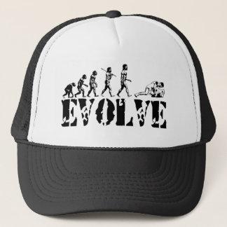 Wrestling Wrestler Grappling Sports Evolution Art Trucker Hat