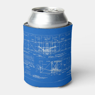 """Wright Bros. """"Flyer"""" Blueprint 1903 Can Cooler"""