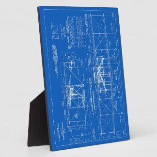 "Wright Bros. ""Flyer"" Blueprint 1903 Plaque"