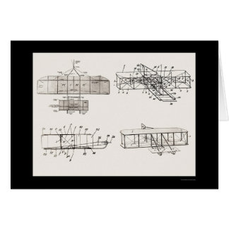 Wright Brothers Aeroplane Patent Plans 1908 Card