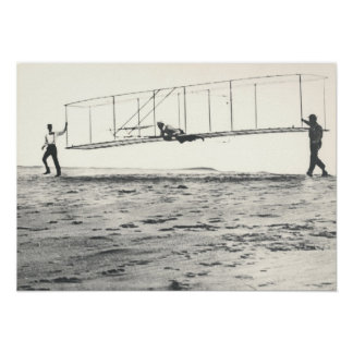 Wright Brothers' Glider Tests Poster