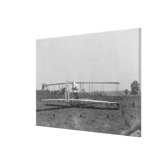 Wright Brothers Plane Close-up View Canvas Print