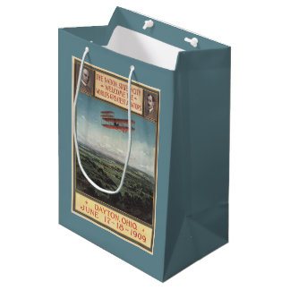 Wright Brothers Plane Medium Gift Bag