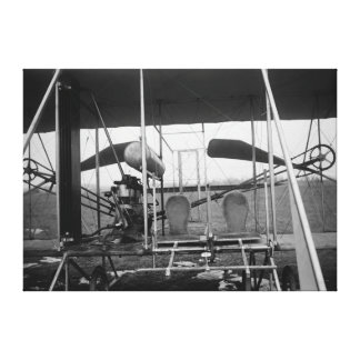 Wright Brothers Plane with Pilot and Canvas Print