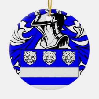 Wright Coat of Arms Round Ceramic Decoration