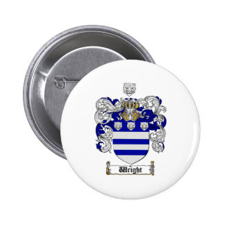 Wright Coat of Arms / Wright Family Crest 6 Cm Round Badge