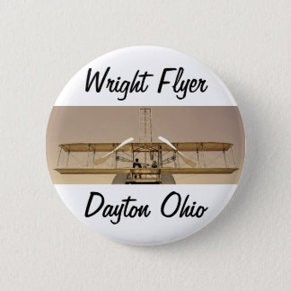 Wright Flyer Aircraft 6 Cm Round Badge