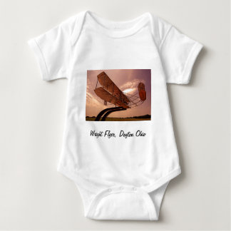 Wright Flyer Aircraft Baby Bodysuit