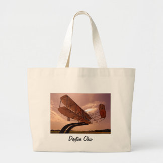 Wright Flyer Aircraft Large Tote Bag