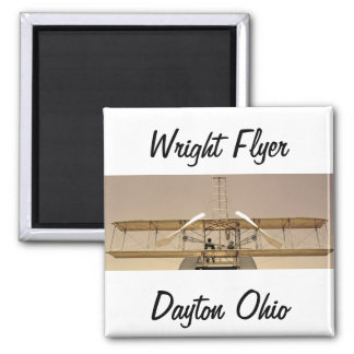 Wright Flyer Aircraft Square Magnet