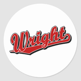 Wright in Red Stickers