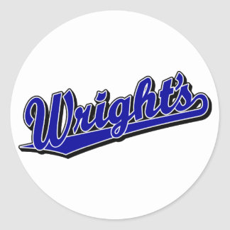 Wright s in Blue Stickers