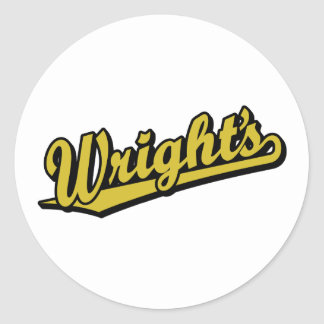Wright s in Gold Stickers