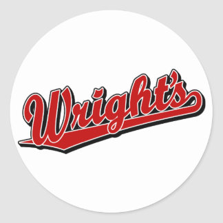 Wright s in Red Stickers