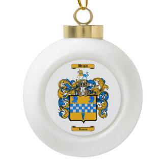 Wright (Scotland) Ceramic Ball Christmas Ornament