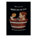 Wrights Coal Tar Soap Poster