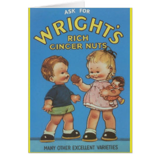 Wright's Rich Ginger Nuts Vintage Ad Greeting Cards