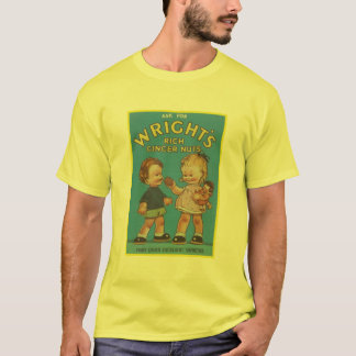 Wright's Rich Ginger Nuts Vintage Ad T-Shirt