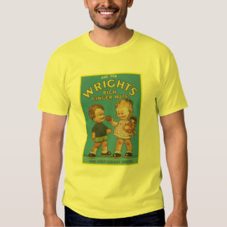 Wright's Rich Ginger Nuts Vintage Ad T Shirts