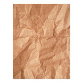 Wrinkled Brown Bag Texture Postcards