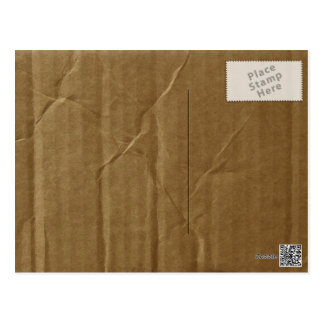 Wrinkled Cardboard Postcard