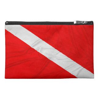 Wrinkled Diver Down Flag Travel Accessory Bag