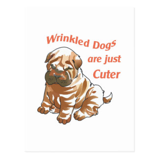 WRINKLED DOGS POST CARD