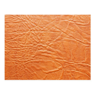 Wrinkled Orange Leather Pattern Postcard