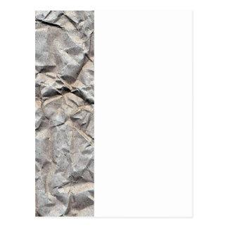 Wrinkled Paper Postcard