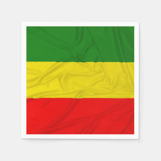 Wrinkled Rastafarian Flag Disposable Napkin