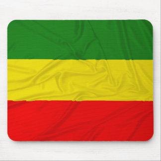 Wrinkled Rastafarian Flag Mousepads