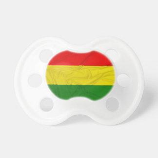 Wrinkled Rastafarian Flag Baby Pacifiers
