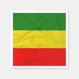 Wrinkled Rastafarian Flag Paper Napkins
