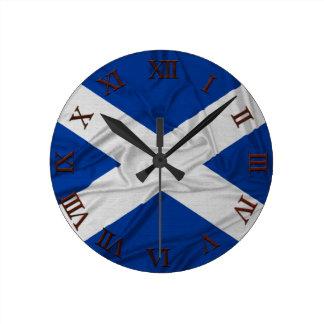 Wrinkled Scotland Flag Clock