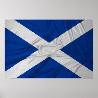 Wrinkled Scotland Flag Print